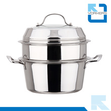Multi-Propósito de doble capa de acero inoxidable Steamer Pot