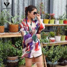 La bufanda de seda impresa de la geometría irregular colorida del estilo de señora 2016