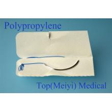 Suture chirurgicale avec suture à monofilaments à aiguille-polypropylène