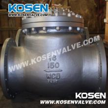 Válvula de retención oscilante de extremo de acero fundido (H44)