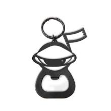 Metal Black Schneemann Form Flaschenöffner