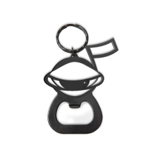 Metal Black Snowman Shape Bottle Opener