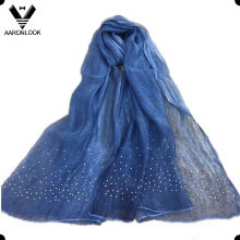 Women Trend Diamond Pendant Modal and Silk Crinkle Scarf