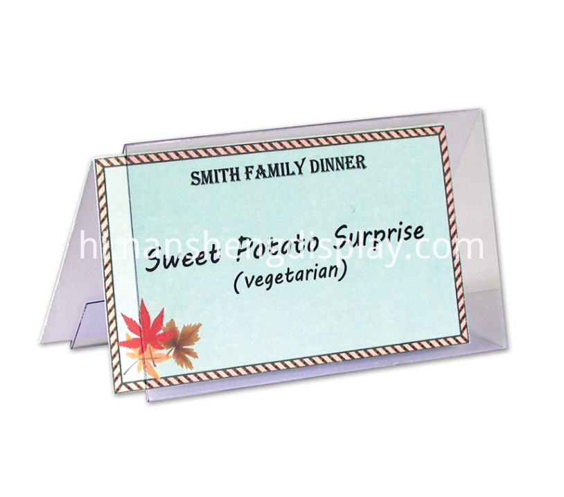 Clear Acrylic Name Tent Card Sign Holder