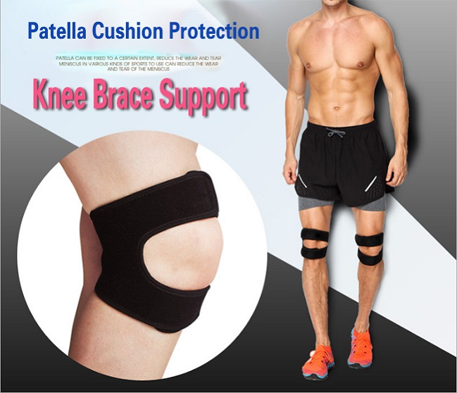 pressure alleviation patella cushion knee brace