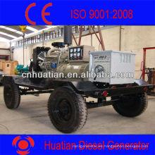 Generador de Mechina de Soldadura de Motor Diesel con Tiempo o Prueba de Sonido y Remolque de Dos o Cuatro Ruedas