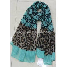 In Stock Leopard Patchwork Polyester Printed Scarf