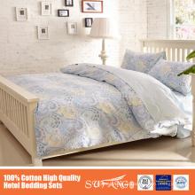 2015 venda quente novo produto 100% algodão bordado conjunto de cama usado no hotel bordado capa de edredão fronhas para hotéis