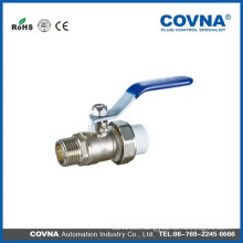 Brass ball valve with male thread/PPR connection