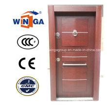 Puerta acorazada de la madera del MDF de la seguridad de África (W-T27)