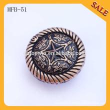 MFB51 Mode nouveau design rond aiguille antique en métal cuivre bouton pour vêtement