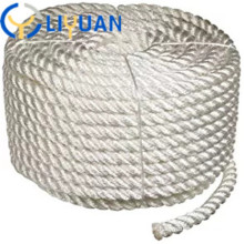 Braided twisted mooring polyester rope