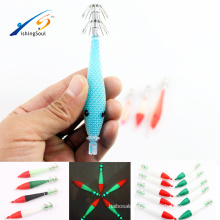 FSQL021 искусственные приманки светящиеся приманки рыбалка с крючком пластик световой кальмар джиг