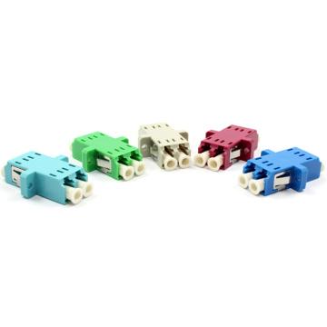 Adaptador de fibra óptica dúplex SM, mm LC