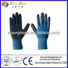 13 gauge cotton/spandex shell latex foam work gloves