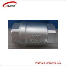 Válvula de retención de elevación vertical sanitaria de acero inoxidable