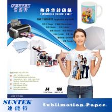 Ink-Jet Printing 100GSM A3 A4 Papel de transferencia de sublimación térmica