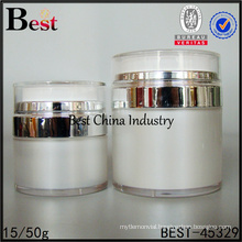 15/30/50g round shaped empty vacuum jar for sale