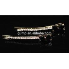 Negro Bow Rhinestone Barrette Crystal Bobby pin