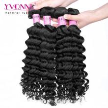 Melhor qualidade profunda onda virgem cambojana cabelo humano