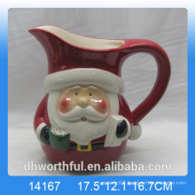 2016 new arrival Christmas santa ceramic milk jug