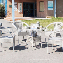 Good quality PE rattan stackable chair wicker furniture dining sets