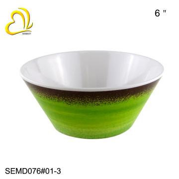 100% высокое качество 6 дюймов меламин круглый чаша