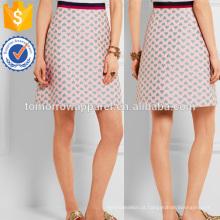 Jacquard Mini Skirt Fabricação Atacado Moda Feminina Vestuário (TA3056S)