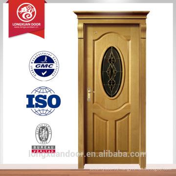 wooden single main door design, solid wood door with glass