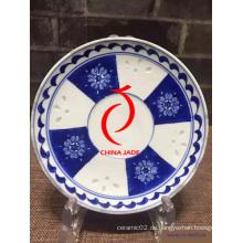 China Blaue und weiße blaue und weiße Porzellanplatte