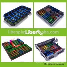 Steel framed bungee trampoline,frame trampoline,kids indoor trampoline bed (5.LE.T8.409.033)