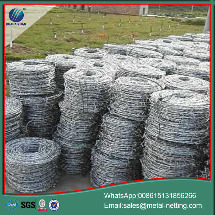 barbed wire galvanized barb
