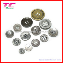 Custom Wholesale Holes Metal Button for Quality Garments
