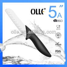 5 Inch Granton Edge Ceramic Blade Santoku Knife