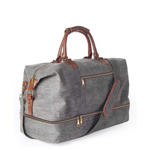 Custom Canvas Travel Tote Bag Luggage One-Shoulder Business Trip Portable Storage Bag Large Capacity Sports Gym Bag