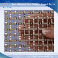 "Flat-Wire Decorative Mesh Durango Stainless Steel 36"" X 48"""