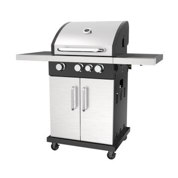 Barbecue à gaz à trois brûleurs avec brûleur latéral