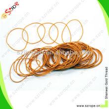 1mm orange polyester elastic bungee hair thread