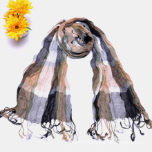 2015 Fashion Multiple Colored Checked Scarf