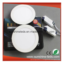 3W / 6W / 9W / 12W / 15W 3 ans de garantie Dimmable LED Panel Light