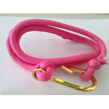 Pulseira personalizada elegante estilo U com âncora para homens e mulheres