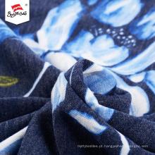 Teste padrão de flor Spandex impresso RayonPoliéster tecido de malha