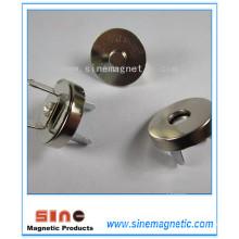 Botón magnético magnético de la hebilla de los broches magnéticos para el monedero