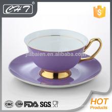 Кофейная чашка и блюдце из высококачественного элегантного костяного фарфора