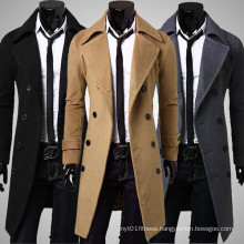 Fashion Custom Fit Plus Size Wool Men Coat