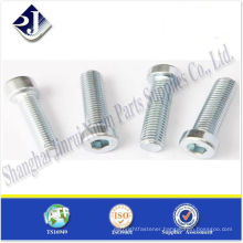 SAE hex socket head cap screws zinc plated TS16949 ISO9001