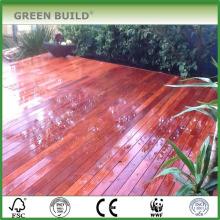Terrasse de jardin en merbau massif rouge résistant aux fissures