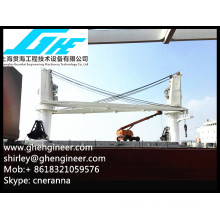 Electrical Heavy duty Bulk Cargo Deck Crane 35T