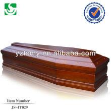 Cor rosa mdf Europeu caixão de madeira sólida