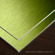 El espejo rígido / el cepillo acabó el panel de pared compuesto de aluminio con precio de fábrica